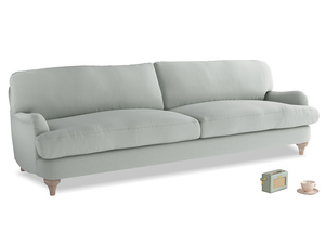Extra large Jonesy Sofa in Eggshell grey clever cotton