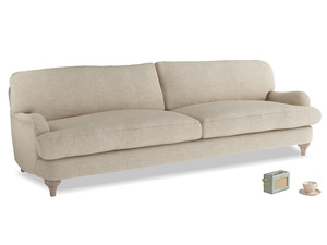 Extra large Jonesy Sofa in Flagstone clever woolly fabric
