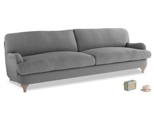 Extra large Jonesy Sofa in Gun Metal brushed cotton