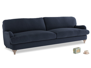 Extra large Jonesy Sofa in Indigo vintage linen