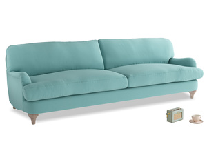 Extra large Jonesy Sofa in Kingfisher clever cotton