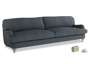 Extra large Jonesy Sofa in Lava grey clever linen