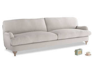 Extra large Jonesy Sofa in Lunar Grey washed cotton linen