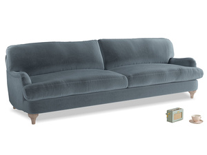 Extra large Jonesy Sofa in Mermaid plush velvet