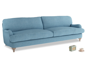 Extra large Jonesy Sofa in Moroccan blue clever woolly fabric