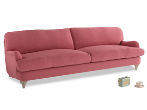 Extra large Jonesy Sofa in Raspberry brushed cotton