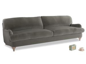 Extra large Jonesy Sofa in Slate clever velvet