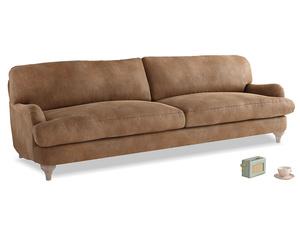 Extra large Jonesy Sofa in Walnut beaten leather