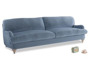 Extra large Jonesy Sofa in Winter Sky clever velvet