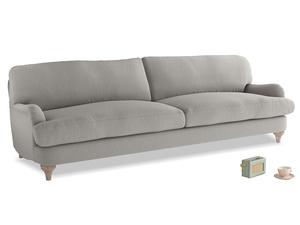 Extra large Jonesy Sofa in Wolf brushed cotton