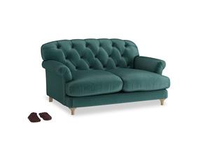 Small Truffle Sofa in Timeless teal vintage velvet