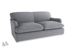 Medium Pudding Sofa Bed in Dove grey wool
