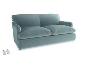 Medium Pudding Sofa Bed in Lagoon clever velvet