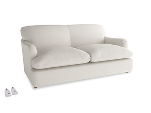 Medium Pudding Sofa Bed in Oyster white clever linen