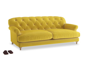 Large Truffle Sofa in Bumblebee clever velvet