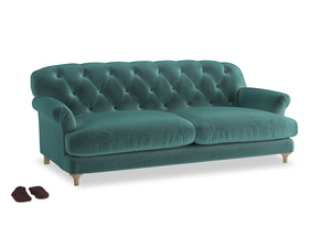 Large Truffle Sofa in Real Teal clever velvet