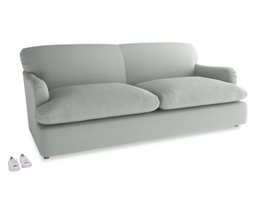 Large Pudding Sofa Bed in Eggshell grey clever cotton