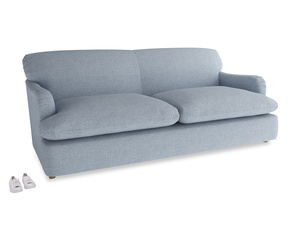 Large Pudding Sofa Bed in Frost clever woolly fabric