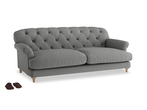 Large Truffle Sofa in French Grey brushed cotton