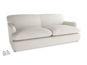 Large Pudding Sofa Bed in Oyster white clever linen