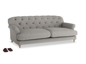 Large Truffle Sofa in Marl grey clever woolly fabric