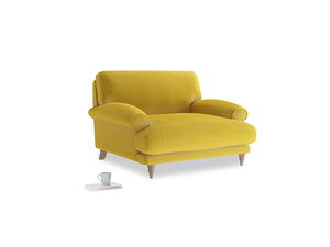 Slowcoach Love seat in Bumblebee clever velvet