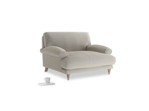 Slowcoach Love seat in Smoky Grey clever velvet