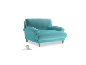 Slowcoach Love seat in Belize clever velvet