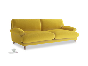 Large Slowcoach Sofa in Bumblebee clever velvet
