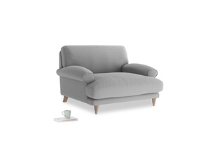 Slowcoach Love seat in Magnesium washed cotton linen
