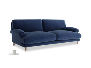 Large Slowcoach Sofa in Ink Blue wool