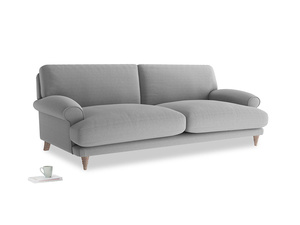 Large Slowcoach Sofa in Magnesium washed cotton linen
