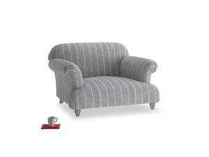 Soufflé Love seat in Brittany Blue french stripe