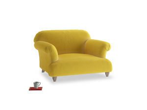 Soufflé Love seat in Bumblebee clever velvet