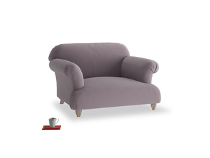 Soufflé Love seat in Lavender brushed cotton