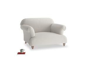 Soufflé Love seat in Moondust grey clever cotton