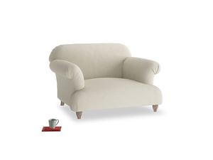 Soufflé Love seat in Pale rope clever linen