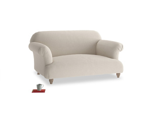 Small Soufflé Sofa in Buff brushed cotton