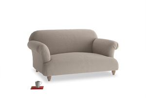 Small Soufflé Sofa in Driftwood brushed cotton