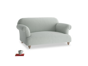 Small Soufflé Sofa in Eggshell grey clever cotton