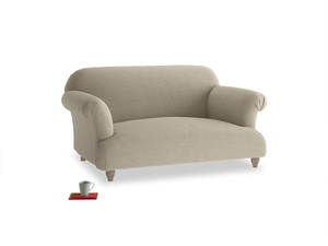 Small Soufflé Sofa in Jute vintage linen