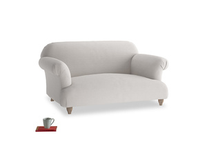 Small Soufflé Sofa in Lunar Grey washed cotton linen