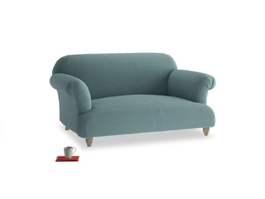 Small Soufflé Sofa in Marine washed cotton linen