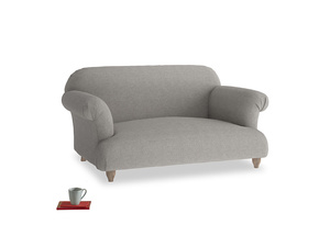 Small Soufflé Sofa in Marl grey clever woolly fabric