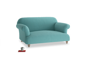 Small Soufflé Sofa in Peacock brushed cotton