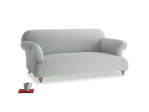 Medium Soufflé Sofa in Eggshell grey clever cotton