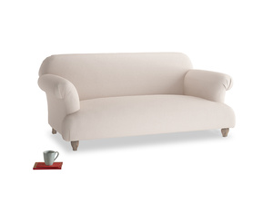 Medium Soufflé Sofa in Faded Pink brushed cotton