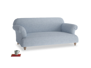 Medium Soufflé Sofa in Frost clever woolly fabric