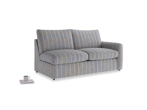Chatnap Sofa Bed in Brittany Blue french stripe with a right arm