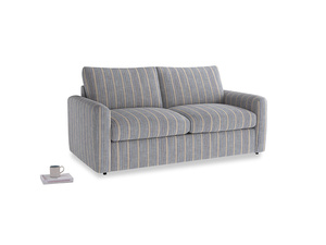 Chatnap Sofa Bed in Brittany Blue french stripe with both arms